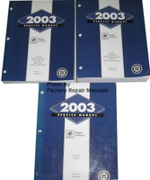 2003 Service Manual Buick Regal, Century Volume 1, 2, 3