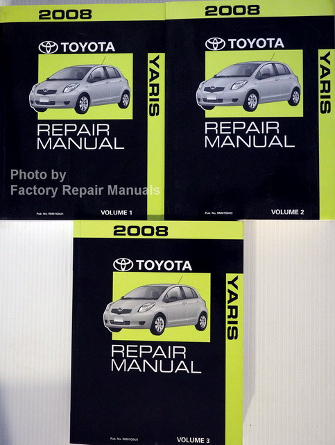 2008 toyota yaris maintenance manual