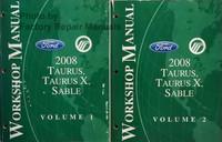 Ford Mercury 2008 Taurus, Taurus X, Sable Workshop Manual Volume 1, 2