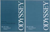2007 2008 Honda Odyssey Factory Service Repair Manual - 2 Volume Set