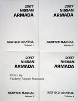 2007 Nissan Armada Service Manuals Volumes 1, 2, 3, 4