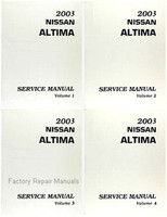 2003 Nissan Altima Factory Service Manual - Complete 4 Volume Set