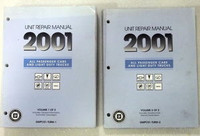 2001 GM Car and Truck Transmission, Transaxle / Transfer Case Unit Repair Shop Manual Set