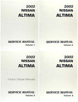 2002 Nissan Altima Factory Service Manual - Complete 4 Volume Set