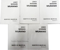 2003 Nissan Murano Factory Service Manual - Complete 5 Volume Set