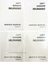 2007 Nissan Murano Factory Service Manual - Complete 4 Volume Set