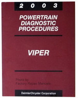 2003 Powertrain Diagnostic Procedures Viper