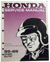 1985 1988 HONDA ELITE 80 Scooter Factory Service Manual CH80 Shop Repair 86 1987