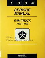 1994 Service Manual Ram Truck 1500 - 3500