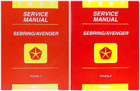 1997 Chrysler Sebring Coupe & Dodge Avenger Factory Service Manual Set - Original Shop Repair
