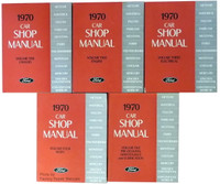 1970 Ford Car Shop Manual Volume 1, 2, 3, 4, 5