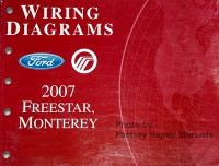 Wiring Diagrams Ford Mercury 2007 Freestar, Monterey