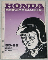 1985 1986 HONDA ELITE 80 Scooter Factory Service Manual CH80 Dealer Shop Repair