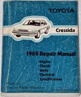 1988 TOYOTA CRESSIDA Factory Service Manual Original Shop Repair