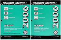 2006 Chevrolet Uplander, Buick Terraza and Pontiac Montana SV6 Factory Shop Service Manual Set