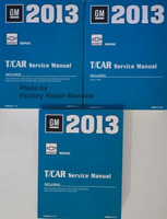 2013 GM Chevrolet Sonic T/Car Service Manual Volume 1, 2, 3