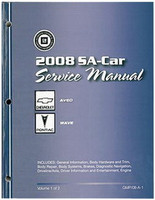 2008 Chevy Aveo, Pontiac Wave Factory Service Manual Set - Original Shop Repair