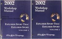 2002 Ford Explorer Sport Trac and Explorer Sport Factory Shop Service Manual Set