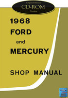 1968 Ford Custom Galaxie 500 Mercury Monterey Marquis Shop Service Manual CD