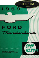1959 Ford Thunderbird Factory Shop Service Manual CD T-Bird Repair