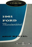 1961 Ford Thunderbird Factory Shop Manual CD - Complete 61 T-Bird Service Repair