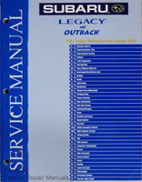 2001 Subaru Legacy & Outback Mechanism and Function Book