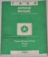 1989 Dodge Dakota Truck Factory Service Manual Original Shop Repair