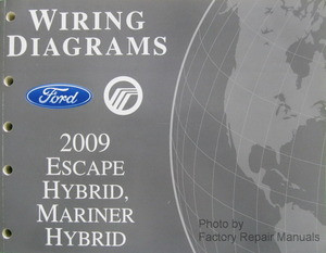 wiring diagrams ford mercury 2009 escape hybrid, mariner hybrid