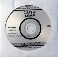 2014 Nissan LEAF Factory Service Manual CD-ROM - Original Shop Repair