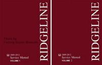 2009 - 2012 Honda Ridgeline Factory Service Manual Set - Original Shop Repair