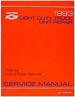 1993 Chevy Light Duty Truck Van Unit Repair Manual Pickup Suburban Blazer S10