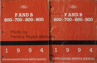 Ford F and B 600-700-800-900 Service Manual Volume 1, 2