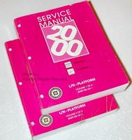 2000 Chevrolet Malibu, Olds Cutlass Factory Service Manual Set - Original Shop Repair