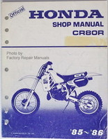 1985 1986 Honda CR80R Factory Service Manual CR80 CR 80 R Original Shop Repair