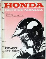 1986 1987 Honda ATC125M Factory Service Manual ATC 125M 125 ATV Shop Repair