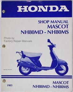 1983 Honda Nh50 Nh80 Scooter Factory Service Manual Lead Mascot Shop