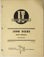 John Deere 6030 Series Tractor I & T Shop Manual Pub No. JD-38 Service Repair