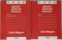 1990 Dodge Plymouth Colt Wagon Factory Service Manual Set - Original Shop Repair