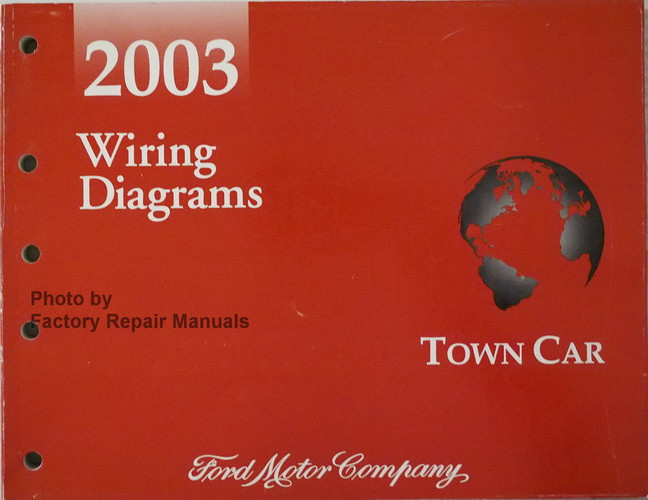2003 wiring diagrams town car ford motor company