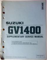 1987 Suzuki GV1400 Service Manual Supplement GV1400G CG / DG Factory Shop Repair