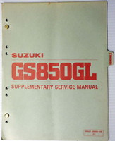 1982 Suzuki GS850 Service Manual Supplement GS850GL GS850GLZ Factory Shop Repair