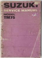 1974 Suzuki TM75 Mini Cross Motorcycle Service Manual TM75L TM 75 L Shop Repair
