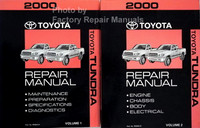 2000 Toyota Tundra Repair Manual Volumes 1 and 2