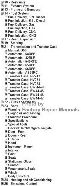 2012 Dodge RAM Truck Factory Service Manual CD Original