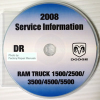 2008 Dodge Ram Truck 1500 2500 3500 4500 5500 Service Information CD
