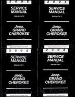 2005 Service Manual Jeep Grand Cherokee Volume 1, 2, 3, 4