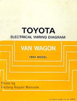 Toyota Electrical Wiring Diagrams Van Wagon 1984 Model