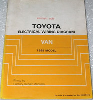 1988 Toyota Van Electrical Wiring Diagrams - Minivan Original Shop Manual