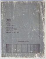 1986 Cadillac Cimarron Service Manual
