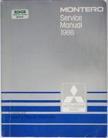 1986 Mitsubishi Montero Service Manual